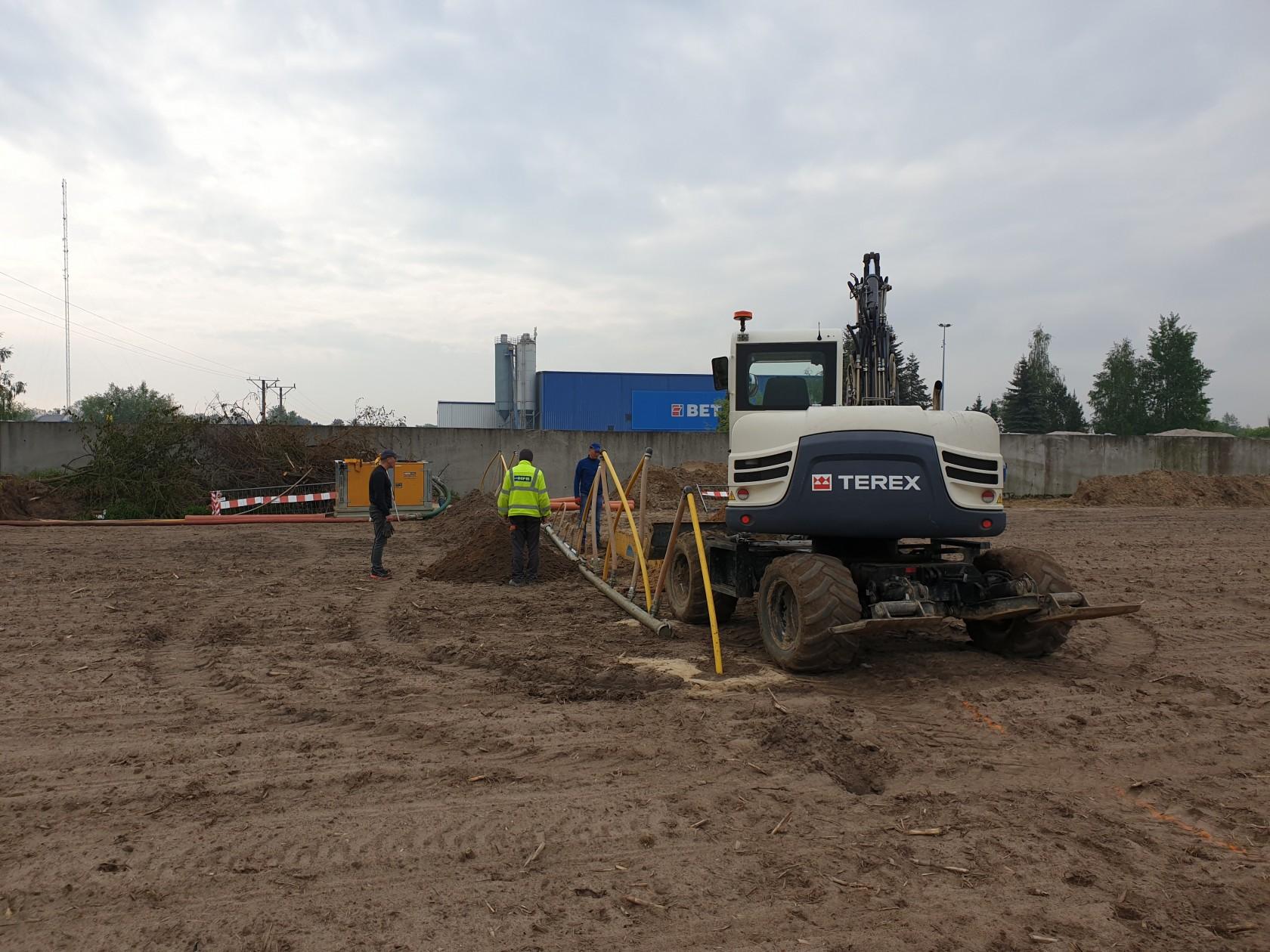 Budowa kanalizacji sanitarnej w rejonie ul. Wygodnej.